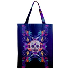 Día De Los Muertos Skull Ornaments Multicolored Zipper Classic Tote Bag