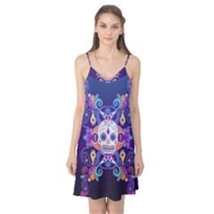 Día De Los Muertos Skull Ornaments Multicolored Camis Nightgown