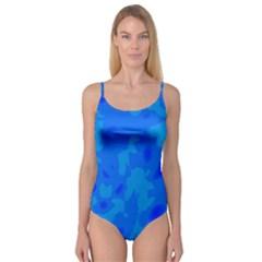 Simple Blue Camisole Leotard
