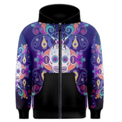 Día De Los Muertos Skull Ornaments multicolored Men s Zipper Hoodie