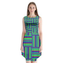 Fabric Pattern Design Cloth Stripe Sleeveless Chiffon Dress