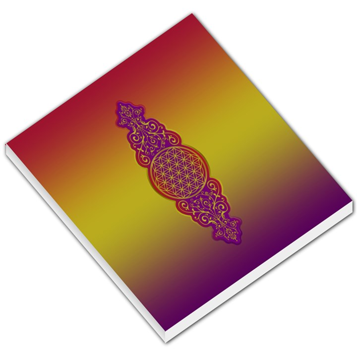 Flower Of Life Vintage Gold Ornaments Red Purple Olive Small Memo Pads