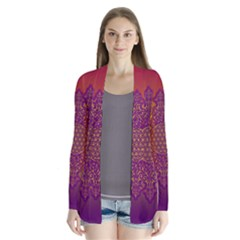 Flower Of Life Vintage Gold Ornaments Red Purple Olive Drape Collar Cardigan