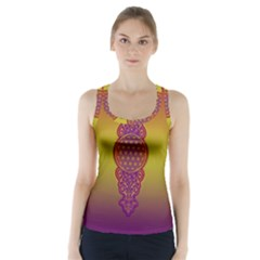 Flower Of Life Vintage Gold Ornaments Red Purple Olive Racer Back Sports Top