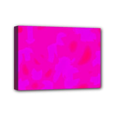 Simple pink Mini Canvas 7  x 5