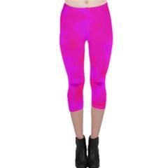 Simple pink Capri Leggings