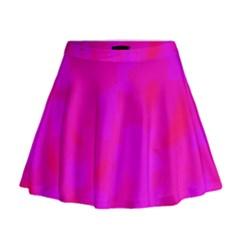 Simple Pink Mini Flare Skirt