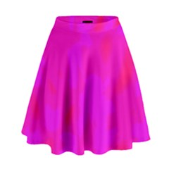Simple Pink High Waist Skirt