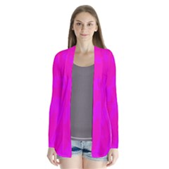 Simple pink Drape Collar Cardigan