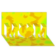 Simple yellow MOM 3D Greeting Card (8x4)