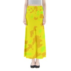 Simple Yellow Maxi Skirts