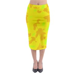 Simple yellow Midi Pencil Skirt
