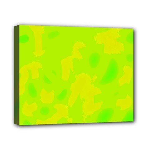 Simple yellow and green Canvas 10  x 8