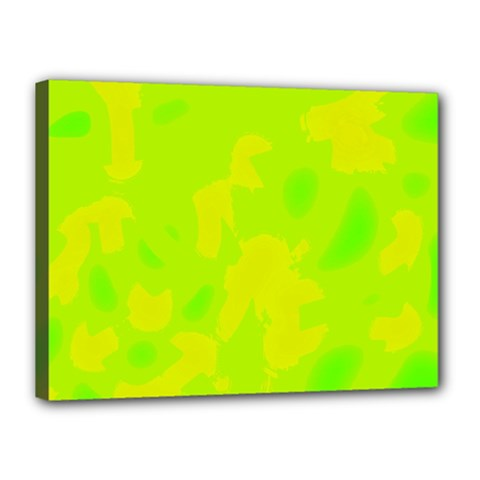 Simple yellow and green Canvas 16  x 12