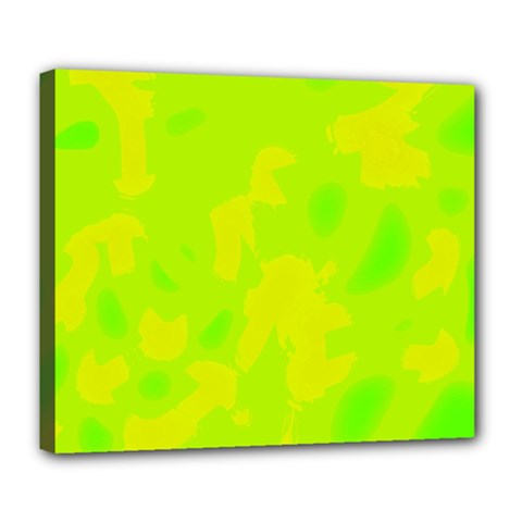 Simple yellow and green Deluxe Canvas 24  x 20