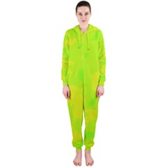 Simple yellow and green Hooded Jumpsuit (Ladies)