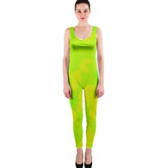 Simple yellow and green OnePiece Catsuit