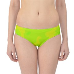 Simple yellow and green Hipster Bikini Bottoms