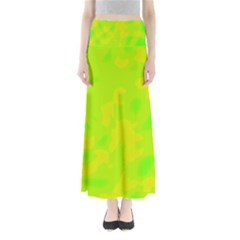 Simple Yellow And Green Maxi Skirts