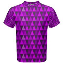 Purple Triangles Men s Cotton Tee