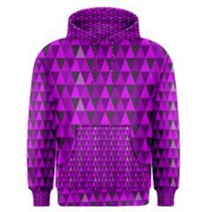 Purple Triangles Men s Pullover Hoodie