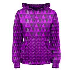 Purple Triangles Women s Pullover Hoodie