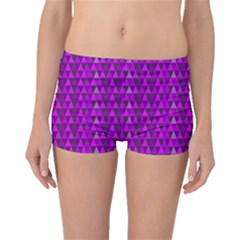 Purple Triangles Boyleg Bikini Bottoms