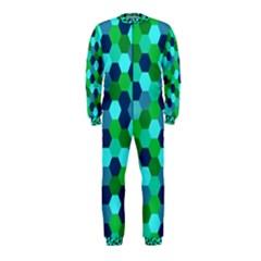 Camo Hexagons in Blue OnePiece Jumpsuit (Kids)