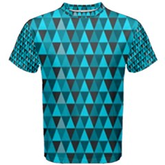 Blue Triangles Men s Cotton Tee
