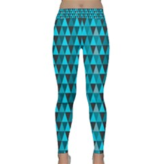 Blue Triangles Yoga Leggings