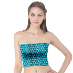 Blue Triangles Tube Top