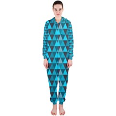 Blue Triangles Hooded Jumpsuit (ladies)