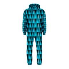 Blue Triangles Hooded Jumpsuit (Kids)