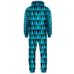 Blue Triangles Hooded Jumpsuit (men)