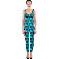 Blue Triangles OnePiece Catsuit