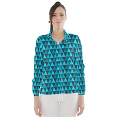 Blue Triangles Wind Breaker (women)