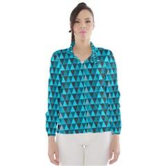 Blue Triangles Wind Breaker (Women)