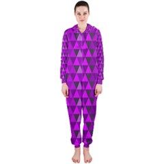 Purple Triangles Hooded Jumpsuit (Ladies)