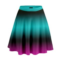 Dark Green Mint Blue Lilac Soft Gradient High Waist Skirt