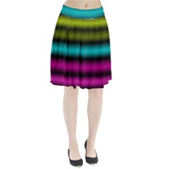 Dark Green Mint Blue Lilac Soft Gradient Pleated Skirt