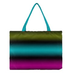 Dark Green Mint Blue Lilac Soft Gradient Medium Tote Bag