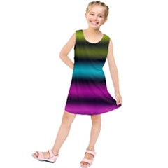 Dark Green Mint Blue Lilac Soft Gradient Kids  Tunic Dress