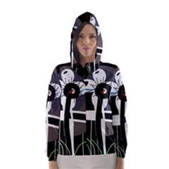 Dark Hooded Wind Breaker (Women)