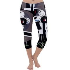 Dark Capri Yoga Leggings