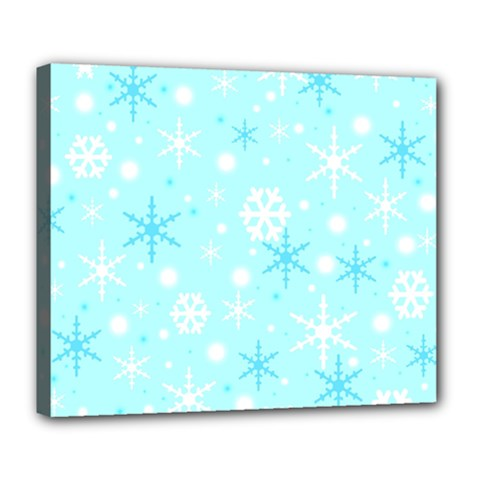 Blue Xmas pattern Deluxe Canvas 24  x 20
