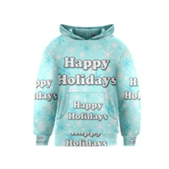 Happy holidays blue pattern Kids  Pullover Hoodie