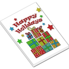 Happy Holidays - gifts and stars Large Memo Pads