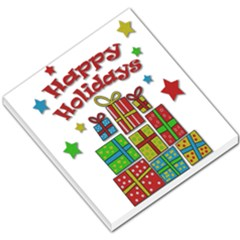 Happy Holidays - gifts and stars Small Memo Pads
