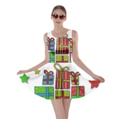Happy Holidays - gifts and stars Skater Dress