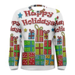 Happy Holidays - gifts and stars Men s Long Sleeve Tee